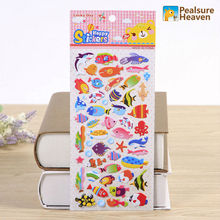 1sheet Korea kawaii cute sea Fishes animal stickers for album Diary Notebook DIY paper decorative
