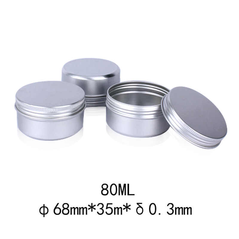 12Pcs Aluminium Box Empty Screw Top Round Tin Cans Silver Makeup Case Cosmetic Storage Container Pots Jar DIY Cream Cosmetic Box