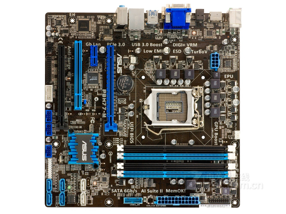 original motherboard ASUS P8H77-M LGA 1155 DDR3 for I3 I5 I7 cpu 32GB USB2.0 USB3.0 H77 Desktop motherboard Free shipping цена