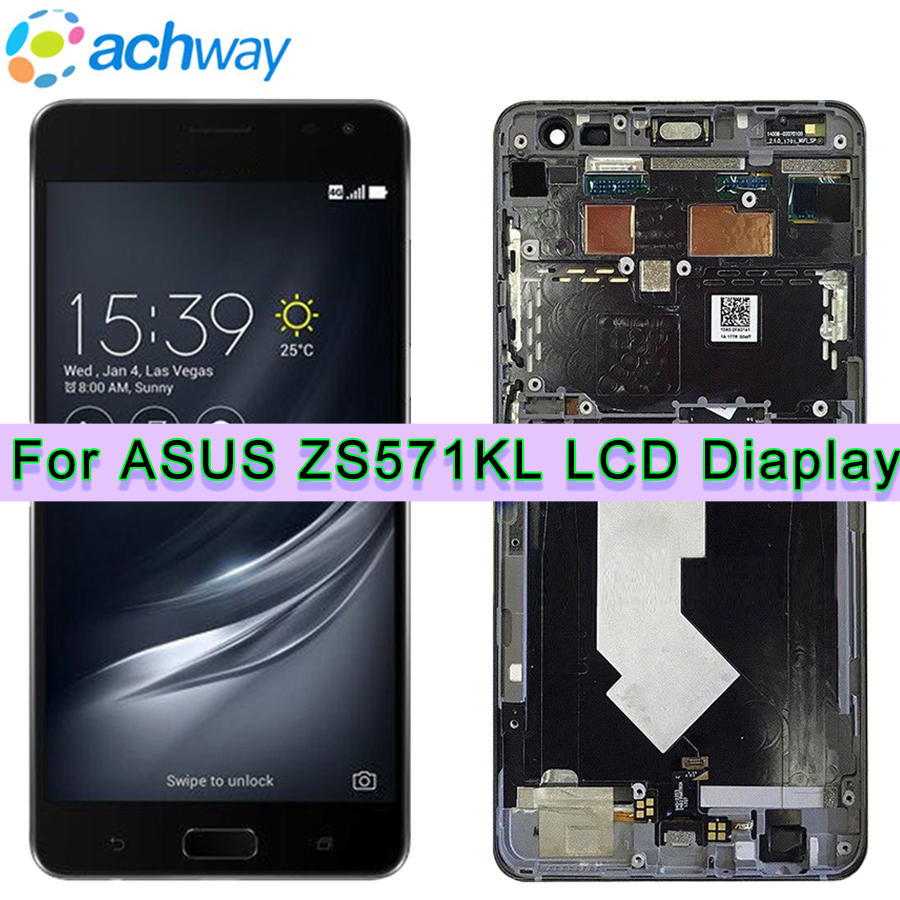For Asus Zenfone ZS571KL LCD Display Touch Screen Digitizer Glass Assembly With Frame For Asus Zenfone