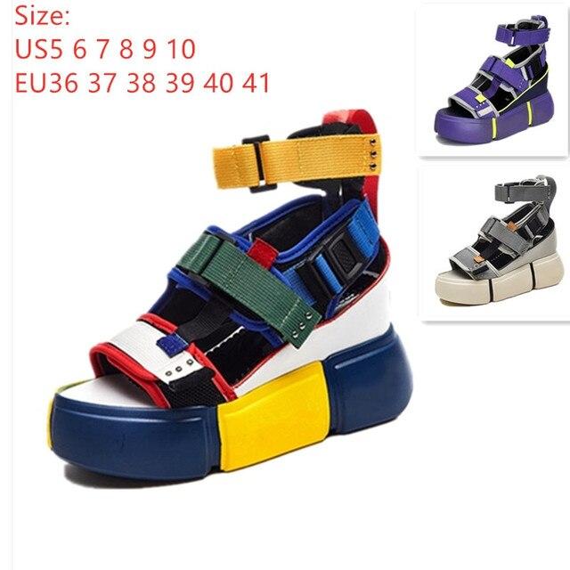 SWONCO נשים של סנדלי 2019 קיץ סנדלי עקבים גבוהים עבור נשים שמנמן סנדל נשים טריז פלטפורמת נעליים מזדמנים קיץ סנדל