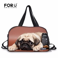 FORUDESIGNS Women Yoga Bag Gym for Fitness Cute Pug Dog Printing Sports Bags Training Shoulder Bag Waterproof Large Tote Handbag