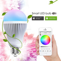 Free Shipping Led Dimmable Bulb Wifi Rgb Bulb E27 Led Bulb 9w Aluminum Led WIFI Bulbs