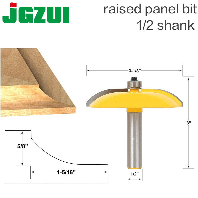 1pc 1/2 Shank Raised Panel Router Bit - Cove Door - 3-1/8 Diameter Woodworking cutter Tenon Cutter for Woodworking Tools 1pc 1 2 3 4 woodworking cutter cnc engraving tools round bottom cutter opened circular arc slotted cutter 1 2 shank