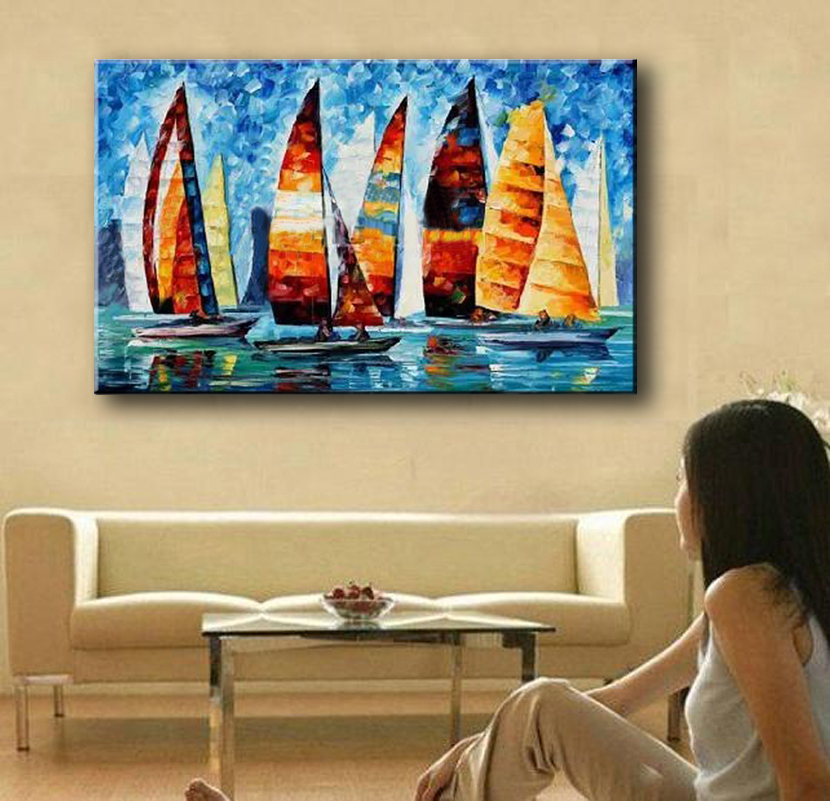 NEW-100-hand-painted-knife-painting-colorful-sea-view-Art-Decoration-sitting-room-Oil-Painting-Canvas (2)