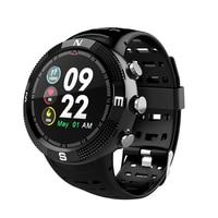 OGEDA F18 smart men's sports watch bracelet HD round screen heart rate oximeter pedometer tracker IP68 waterproof PK apple xs