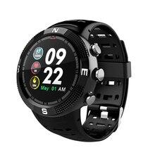 OGEDA F18 smart mens sports watch bracelet HD round screen heart rate oximeter pedometer tracker IP68 waterproof PK apple xs