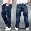 Jeans Para Hombre Marca Stretch Azul Denim Jeans de Moda Para Los Hombres Grandes y Pantalones Pantalones Tamaño de altura 33 34 35 36 38 40 42 44 48