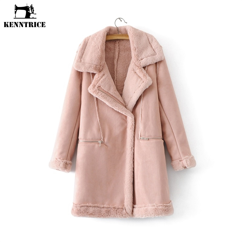 Rose Doublure D'hiver Veste Pink Coupe Femme Fausse Gray Kenntrice TnITWzfYB