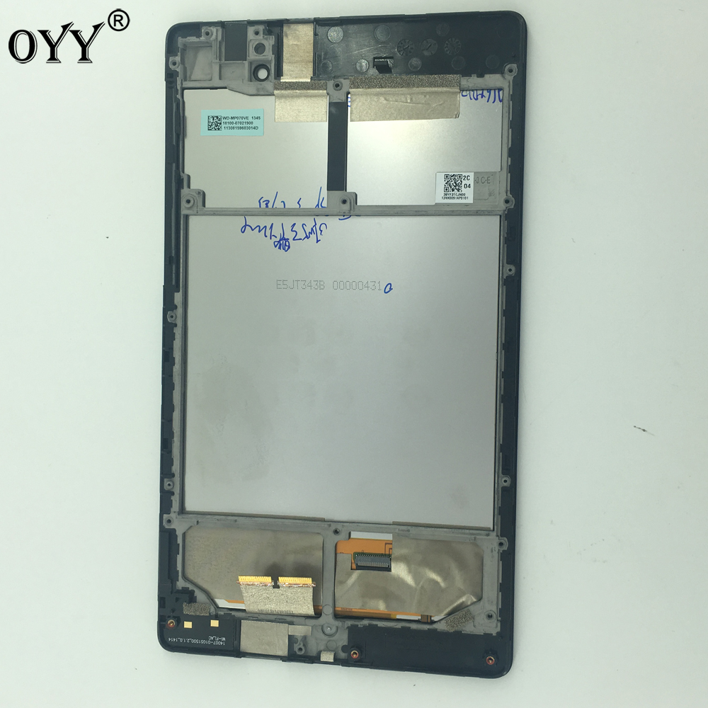 LCD display Screen Touch Screen Digitizer Glass Assembly with Frame For Google Nexus 7 FHD 2nd 2013 Asus ME571KL ME571 top quality lcd display digitizer touch screen assembly for meizu u10 phone with frame free shipping with tools as gift