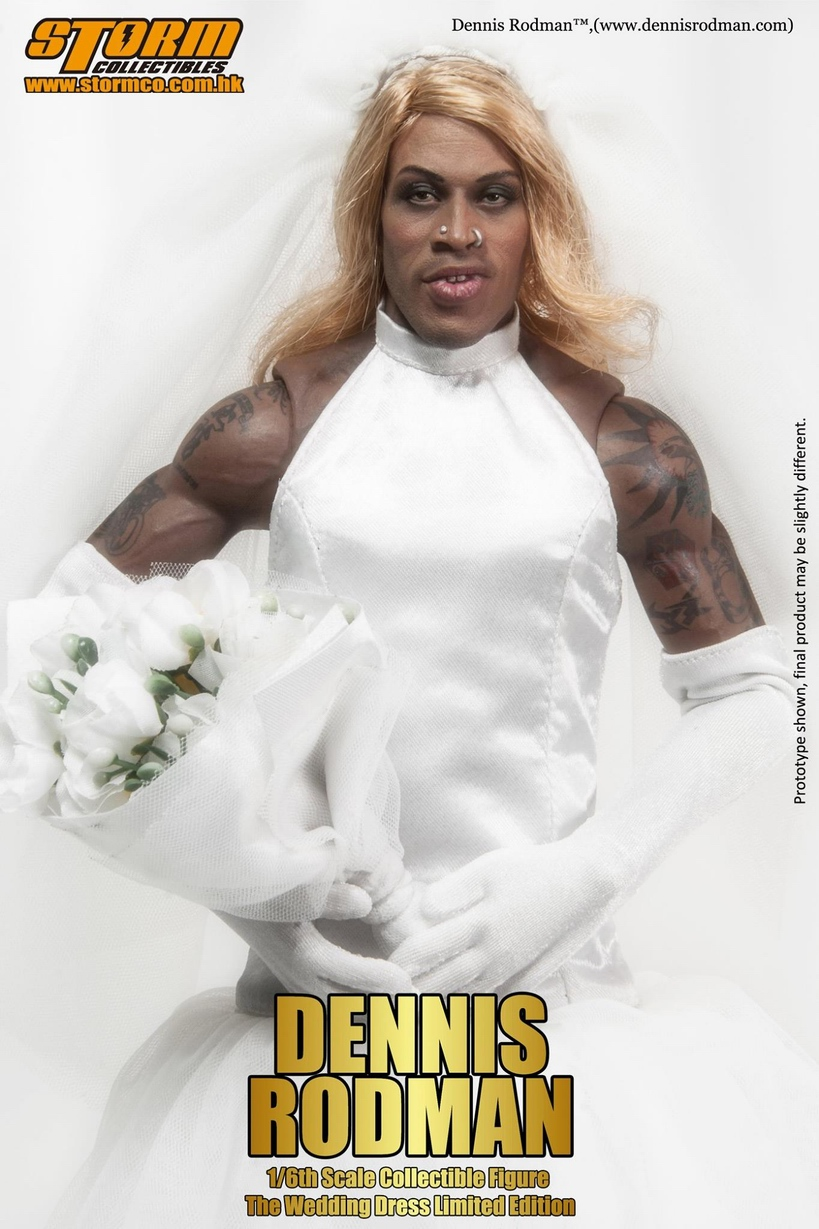 Storm Toys 1/6 Dennis Rodman wedding dress limited version ( 500pcs ... Dennis Rodman Wedding Dress