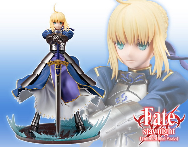 Free Shipping 10 Fate EXTRA Fate Stay Night UBW Saber King of Knights Boxed 26cm PVC Action Figure Collection Model Doll Toy