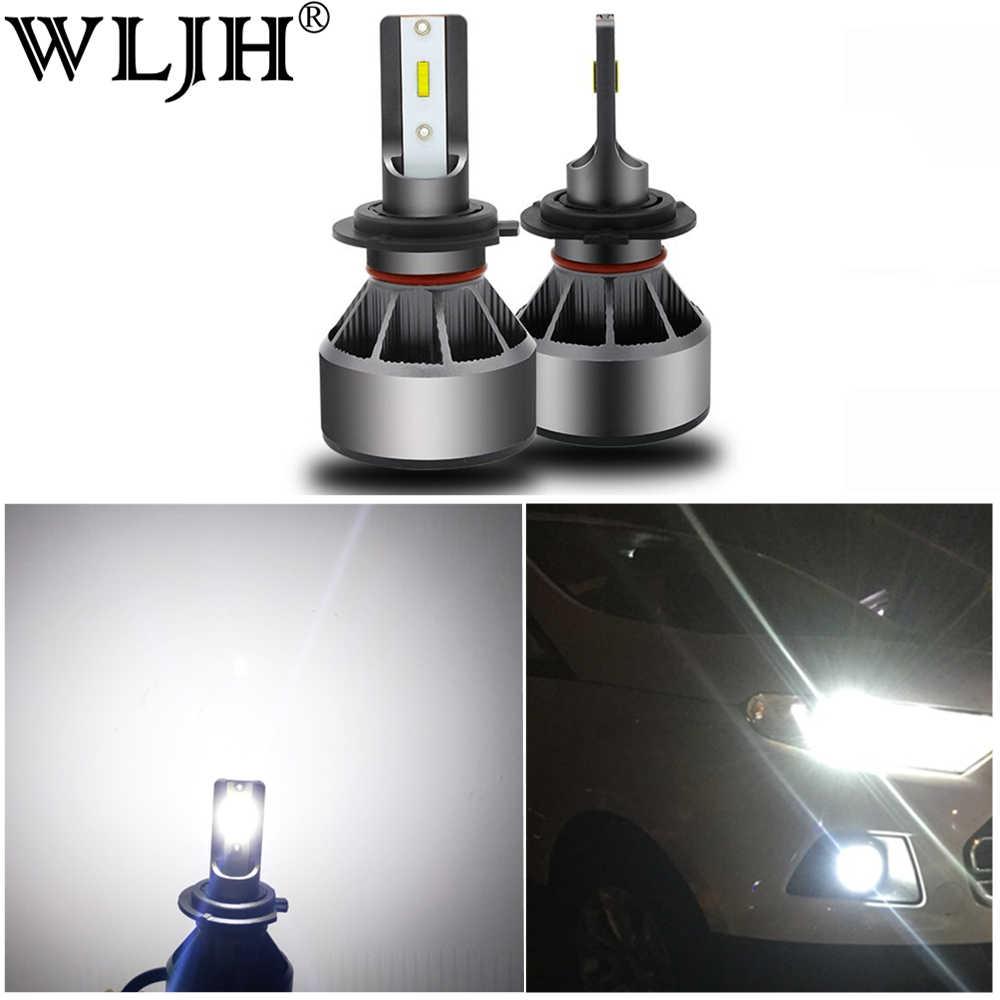 WLJH 2x High Power 60W 6000LM H7 Led H11 H4 Led Headlight Hi Low Beam Car Headlight Bulb CSP Chip Auto Headlamp Fog Lamp 12V 24V