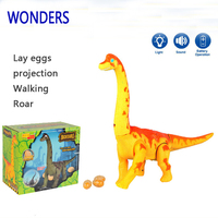 New Electric Toy Large Size Walking Dinosaur Robot With Light Sound Brachiosaurus Battery Operated Kid Children