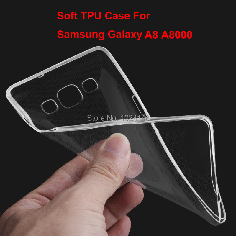 New Slim Crystal Clear Transparent Soft TPU Back Case Cover Protection Skin For <font><b>Samsung</b></font> Galaxy A8 <font><b>A8000</b></font> 5.7