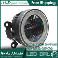 AKD Car Styling Angel Eye Fog Lamp for Mitsubishi Outlander LED DRL Daytime Running Light High Low Beam Automobile Accessories