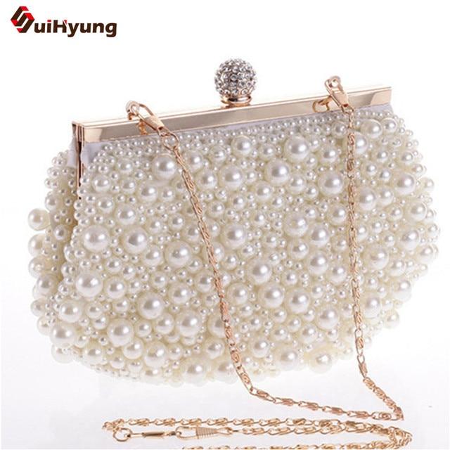 Latest Women s Beaded Diamond Day Clutches Pearl Glassbeads Embroidery  Craft Evening Bag Wedding Party Handbag Shoulder 78e3fadb7709