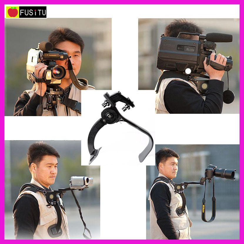 Camera Tripod Hand Free Shoulder Support Pad Bracket Portable Travel Shoulder Support