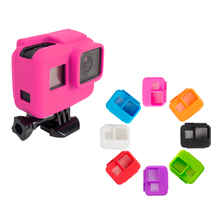 SHOOT Colorful Soft Silicone Protective Case for GoPro Hero 7 6 5 Black Sports Camera Frame For Go Pro 7 6 5 Camera Accessory shoot 6 inch diving dome port for gopro camera go pro 7 6 5 black sports cam with waterproof case dome for gopro 7 6 5 accessory