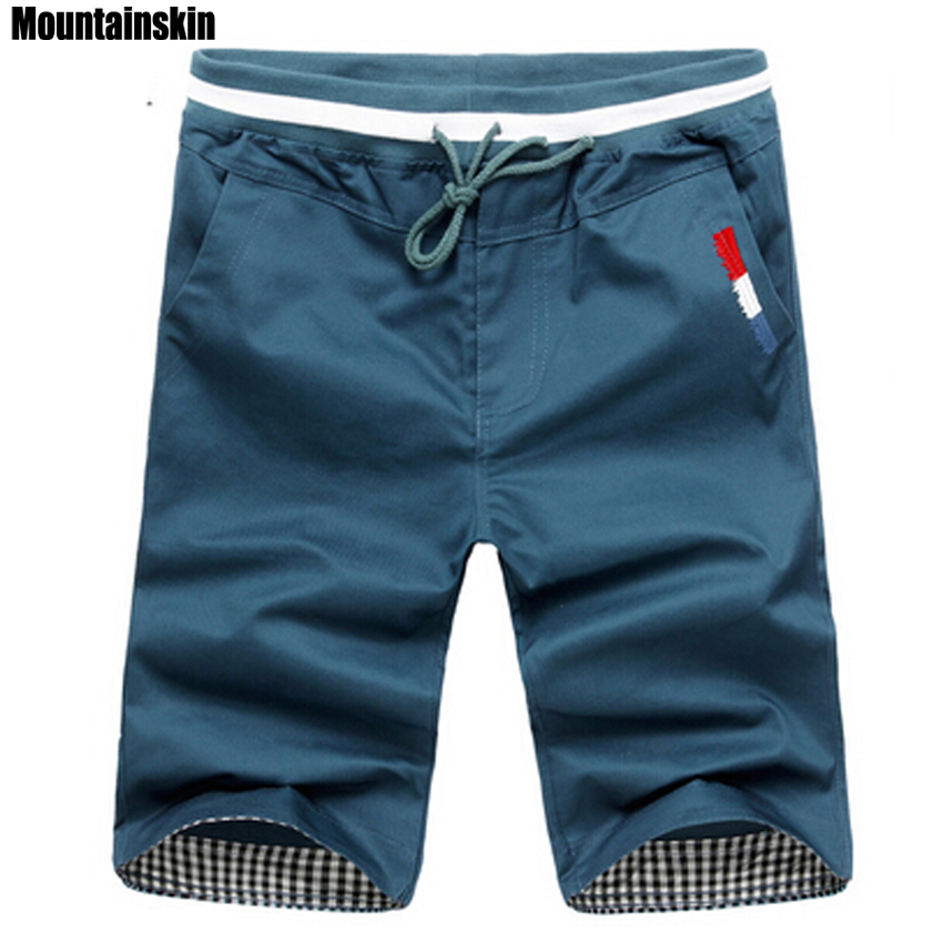 Mountainskin 2019 New Fashion Mens Cropped Sweatpants Cotton Jogger Men Korea Hip Hop Harem Outdoors Spring&Summer   Shorts  ,EDA307