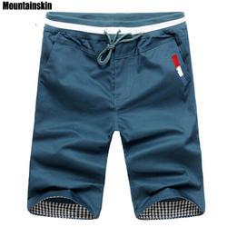 Mountainskin 2019 Новая мода Для мужчин s укороченные штаны хлопок Jogger Для мужчин Корея хип-хоп шаровары на открытом воздухе весенние и летние