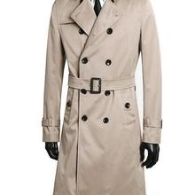 Double breasted trench coats men's long clothing spring and