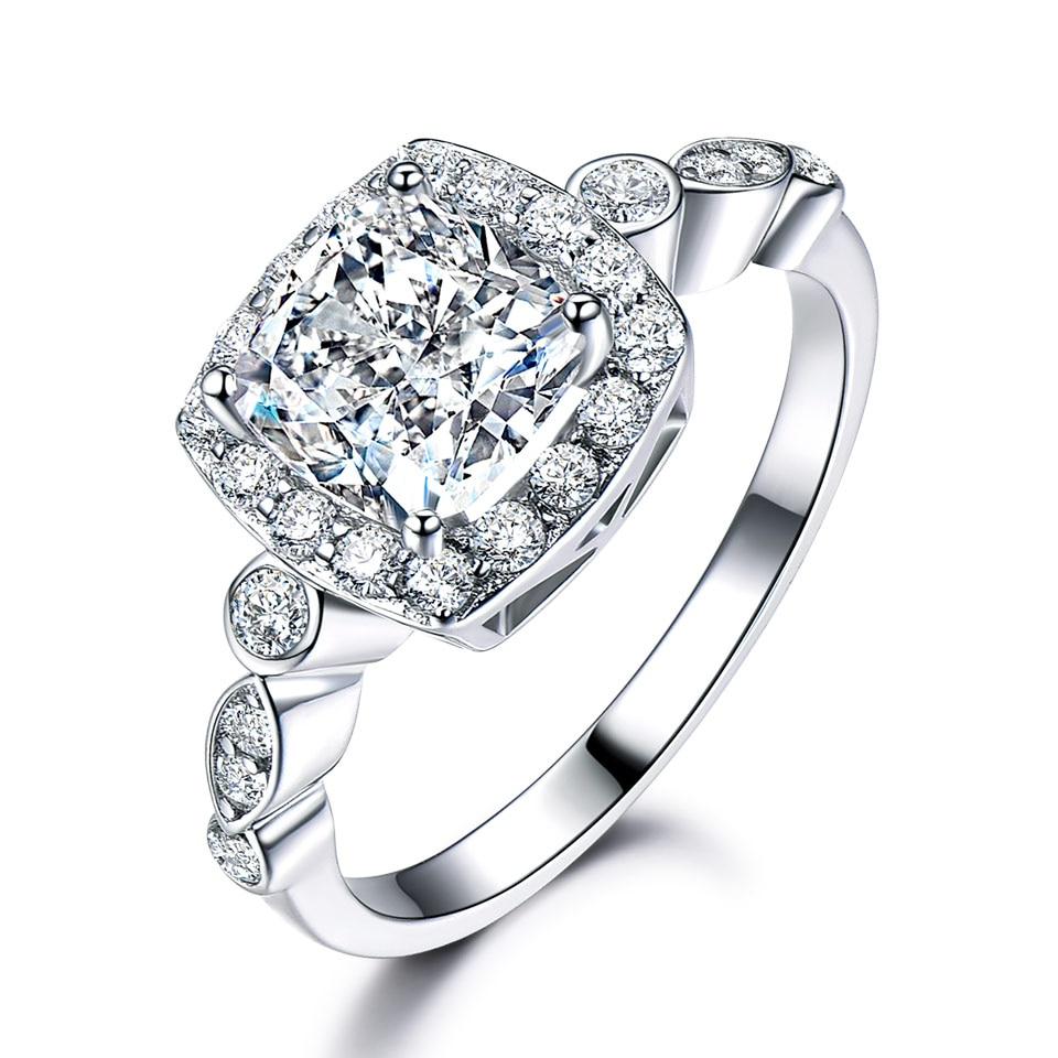 Image 4 - UMCHO Genuine 925 Sterling Silver Birthstone Ring Created Nano Topaz Garnet Amethyst CZ Rings Engagement For Women Fine JewelryRings   -