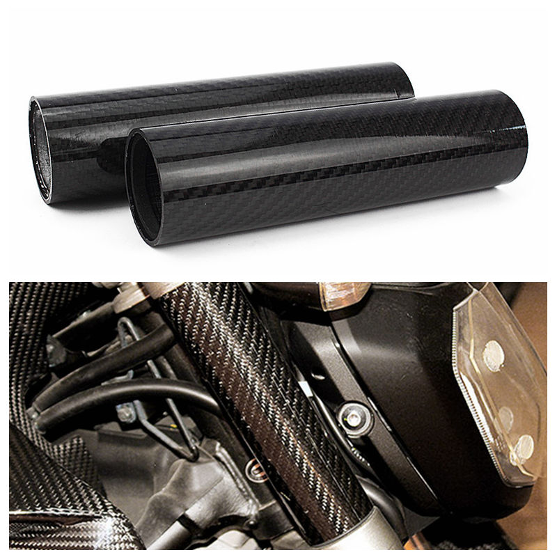 For YAMAHA MT 07 FZ 07 MT07 FZ07 MT 07 2014 2018 2015 2016 2017 Motorcycle Real Carbon Fiber Front Fork Tube Slider Cover-in Covers & Ornamental Mouldings from Automobiles & Motorcycles    1