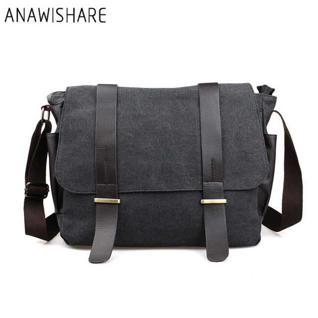 ANAWISHARE Men Messenger Bags Large Canvas Crossbody Bags School Shoulder  Bags Laptop Bags Travel Handbags Bolsa Feminina bba638138ce13