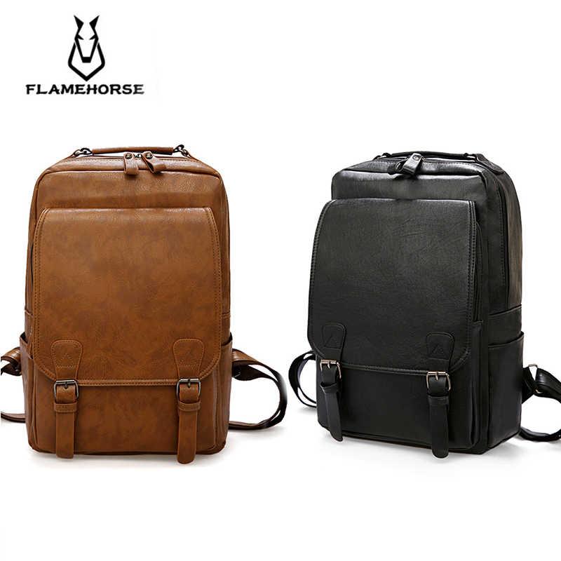Пламя лошадь мода для мужчин рюкзак водостойкий из искусственной кожи дорожная сумка человек большой ёмкость подросток мужской Mochila ноутбук рюкзаки 2019