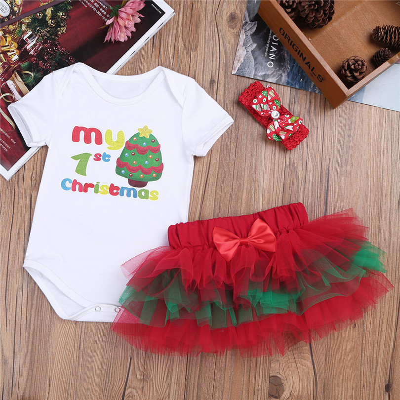5e350e824 iEFiEL Newborn Infant Baby Girls First Christmas Outfits Christmas ...