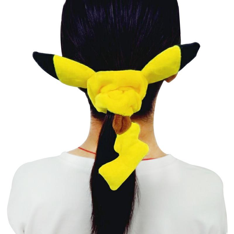 Новая модная резинка для волос, повязка на голову, аниме, карманные монстры, Пикачу, костюмы для косплея, аксессуары, головной убор, повязка для волос