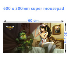 FFFAS 60cm 30cm Edge stitching durable large Gaming mouse pad L XL Mousepads for Gamer keyboard mat accessories Riven Teemo