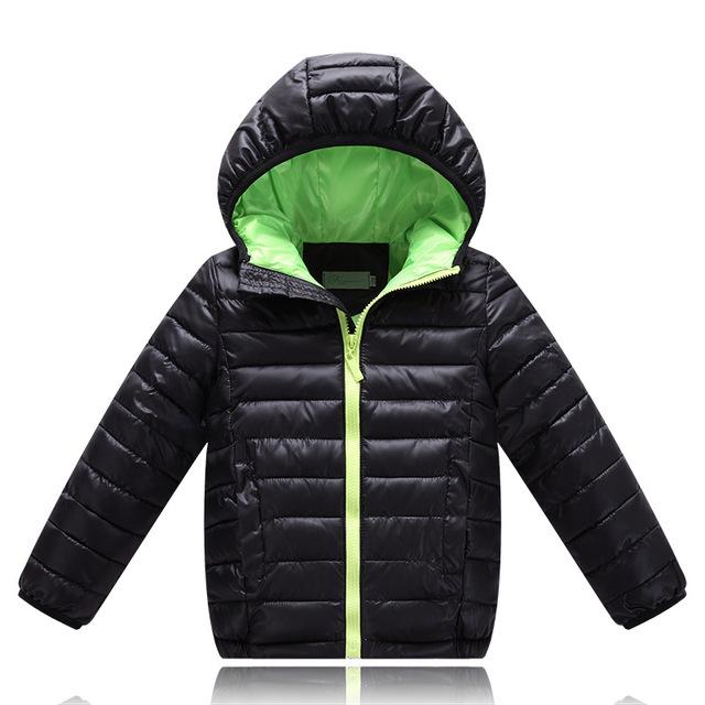 Chaqueta de Invierno para niños Niños Encapuchados de la Moda Gruesa Chaqueta de Invierno de Los Niños Abajo Parkas Outwear Para Niños Y Niñas Ropa de Alta Calidad