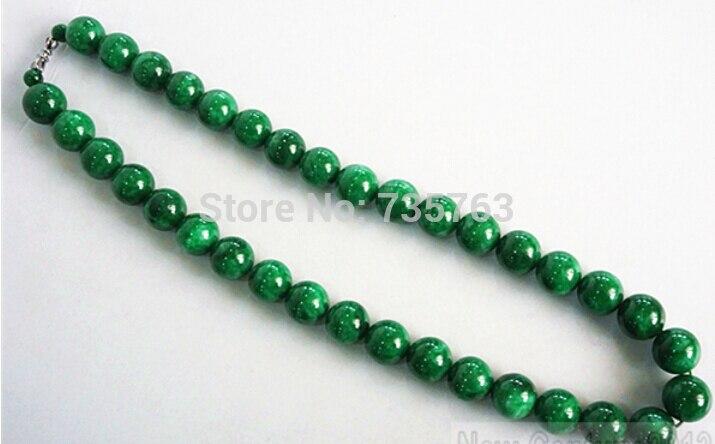 Xiuli 0014402 Chinois Vert Naturel Jadéite Jade Collier Perles chaîne