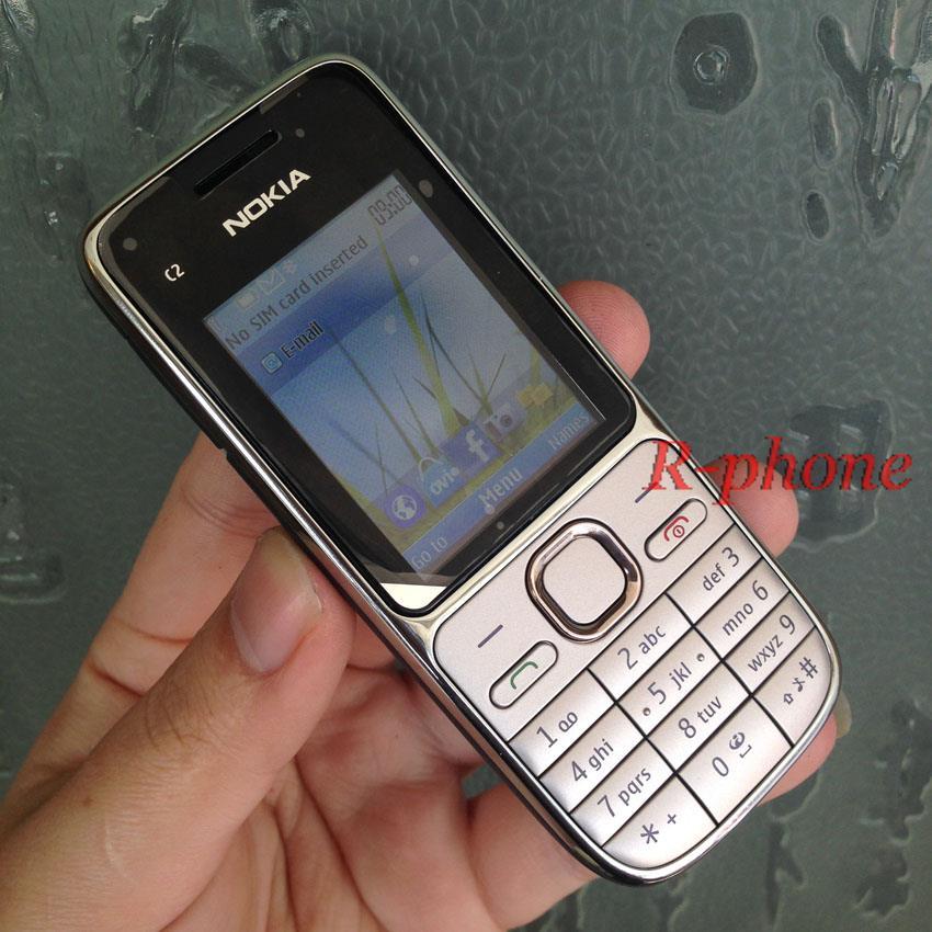 Nokia C2 C2-01 разблокированный GSM мобильный телефон восстановленные сотовые телефоны - Цвет: Gold English Keybad