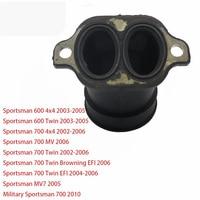 Saugrohr Carb Boot Vergaser Adapter für ATV Polaris Sportsman 600 700 MV7 2002 2006 Military A06MH68AA Twin 1253415-in Vergaser aus Kraftfahrzeuge und Motorräder bei