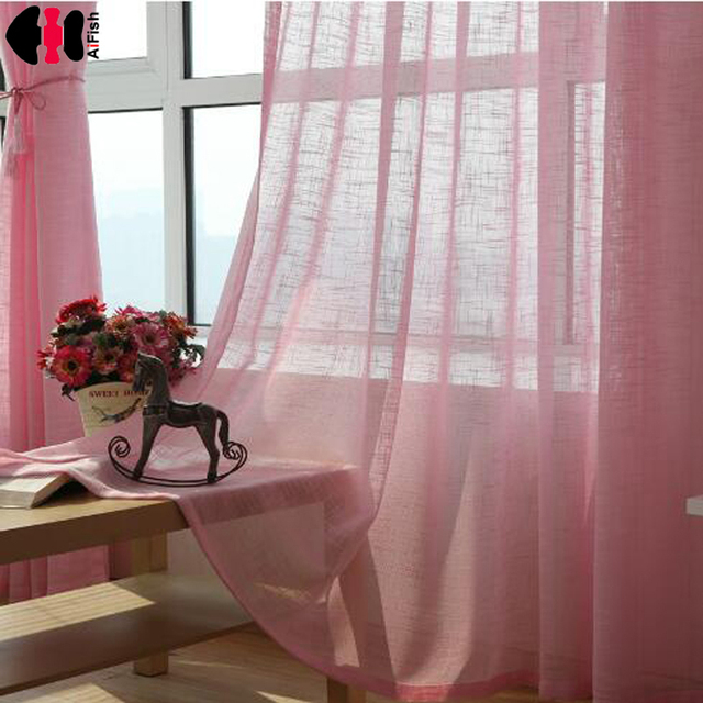 Pink Color Tulle Grey Curtains Blinds Yellow Wedding Draping Fabric Kitchen Short Red For Living