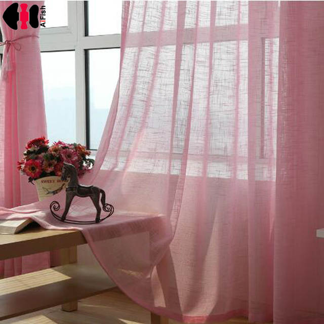 US 24 OFF Pink Color Tulle Grey Curtains Blinds Yellow Wedding Draping Fabric Kitchen Short Red Curtains For Living Room WP342B In Curtains