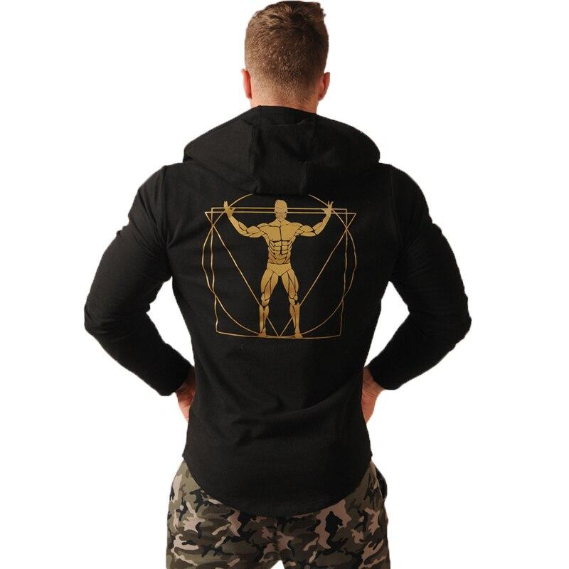 Brand Fitness Hoodies Sweatshirts Men Spring Zipper Patchwork Cardigan Causal Streetwear Hip Hop Printed Tracksuit Jacket Coat
