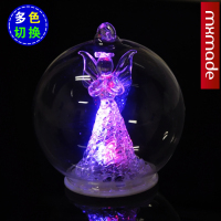Crystal Clear Blessing Angel Cover Glass Ball Multicolor Gradient Household Gift Creative Gifts In A Bottle