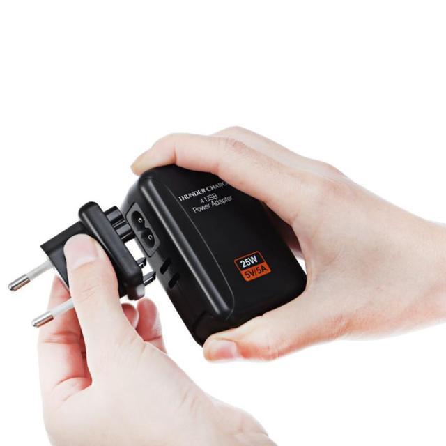 HL 2017 KELIMA Новый 4 Порта USB Многофункциональный Адаптер Путешествия Стены AC Зарядное Устройство с ЕС Plug MAY11-14