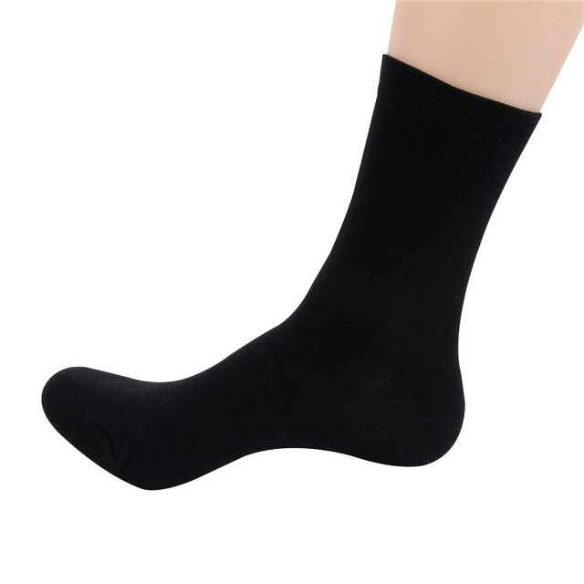 6 Pairs Long Cotton Business Socks For Mens