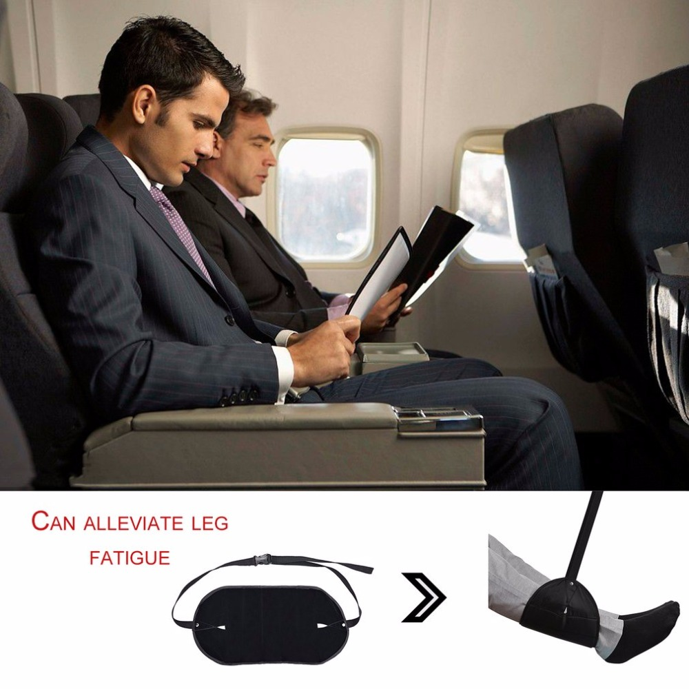 Portable Travel Footrest Adjustable Feet Hammock Relaxing Footrest Foldable Hanging Foot Rest For Home Office Airplane раскладушка therm a rest therm a rest luxurylite mesh xl