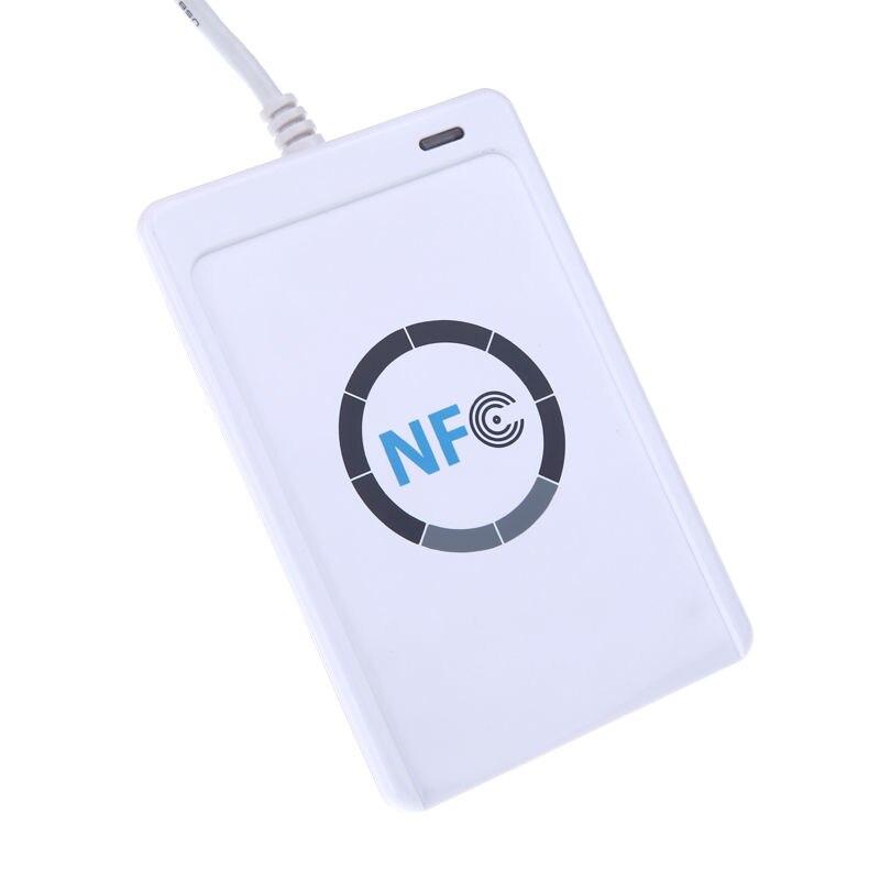 Lecteur de carte à puce USB ACR122U NFC RFID pour tous les 4 Types d'étiquettes NFC contrôle d'accès 13.56 MHz avec carte à puce 5 xMifare