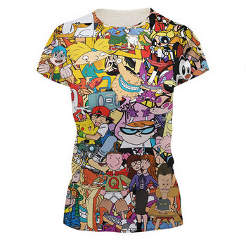 2016 New Fashion Women/Men Cartoon Totally 90s Print 3d T Shirt Pokemon Cartoon Sporting T Shirts Girls Top Tee Plus Size S-XXL 2