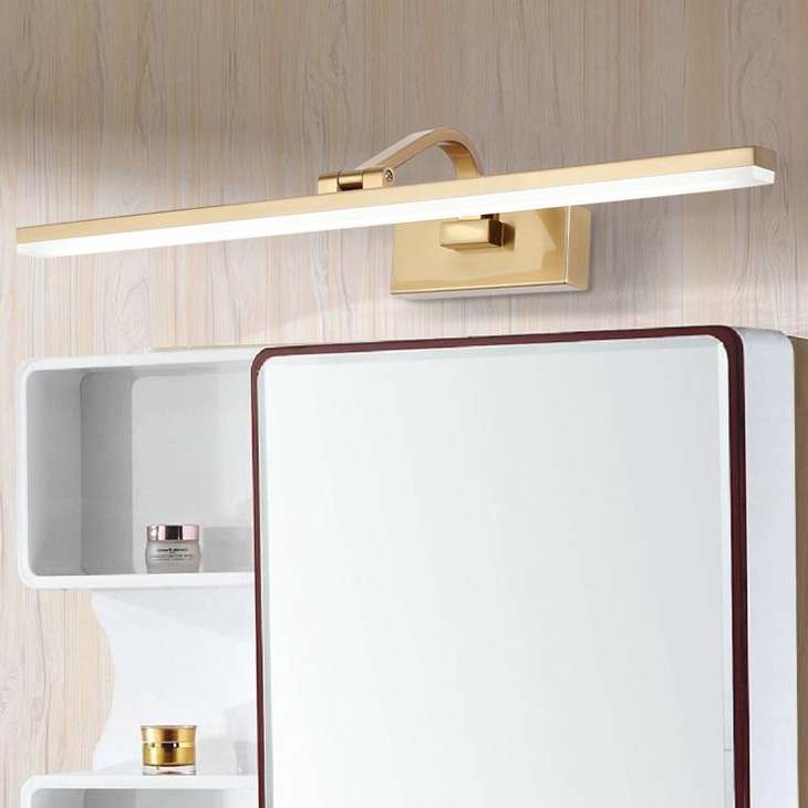 Retro 9w/12w/14w/16w Led Wall Picture Light Fixture Washroom Makeup Mirror Front Lamp Smd 2835 Natural White 4000k Bronze Shell Catalogues Will Be Sent Upon Request Led Lamps