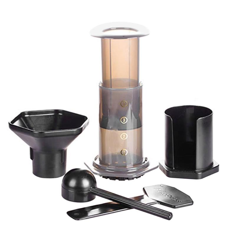 Portable Pressure Coffee Maker Pot Espresso Filters Mocha Filter Paper Handheld Manual Coffee Machine Percolator for Home portable coffee maker manual coffee making machine coffee filter hand travelling french press pot 350 pcs metal filter paper