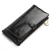 Wholesale Brand Wallets 100% Genuine Leather Wallet Femal Purse With Credit Card Holder Women Coin Pocket Photo