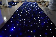 Mixed Color RGB 4x6M LED Star Curtain 144pcs SMD High-bright stage Cloth Fireproof Velour + Controller background cloth цена и фото